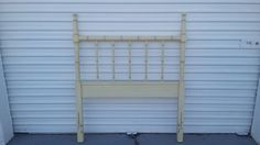 Faux Bamboo Twin Size Headboard  Henry Link Bali Hai Mid Century #HenryLink #FauxBamboo