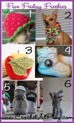 six free crochet patterns