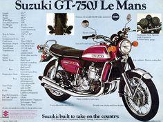 Suzuki GT 750 – take one. Suzuki Gt 750, Suzuki Bikes, Moto Suzuki, Suzuki Motorcycle, Motorcycle Garage, Motorcycle Art, Motorcycle Design, Mitsubishi Pajero Sport, Auto Retro