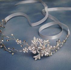 Wedding Hair Accessories Bridal Halo by svitlanasbridalveils