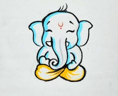 Wonderful Photographs ganpati drawing for kids Strategies Offer kids a stack of document and also a box associated with crayons, and there is a high probability they will be ple Ganesha Sketch, Ganesha Drawing, Lord Ganesha Paintings, Ganesha Art, Art Drawings For Kids, Art Drawings Sketches, Cute Drawings, Hare Krishna, Krishna Art