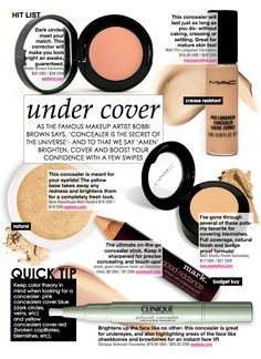 The best Concealers & how each product works.