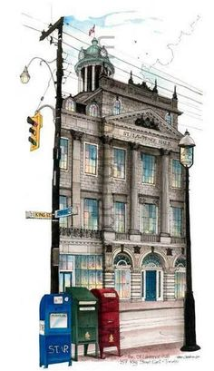 St. Lawrence Hall was built in 1850 as a meeting place for public gatherings, concerts and exhibitions. Restored to its original grandeur in 1967, the Hall with its three major rooms continues to serve as a breathtaking venue to inspired special occasions #TorontoIllustrator #davidcrighton_art