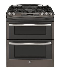 30 Inch Slide-in Double Oven Gas Range with 5 Sealed Burners, cu. Slate Appliances, Kitchen Appliances, Double Oven Range, Double Ovens, Slide In Range, Gas Oven, Kitchen Stove, Kitchen Redo, Kitchen Backsplash