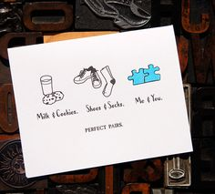 Perfect Pairs Me and You Card – Paper Luxe #love #valentines