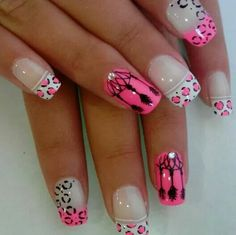 Buscando Diseños Increibles Fabulous Nails, Gorgeous Nails, Love Nails, Fun Nails, Dimond Nails, Trim Nails, Silver Nails, Manicure E Pedicure, French Tip Nails