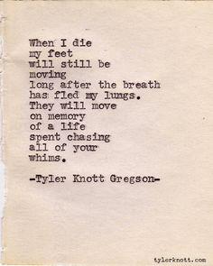 Typewriter Series #112 by Tyler Knott Gregson