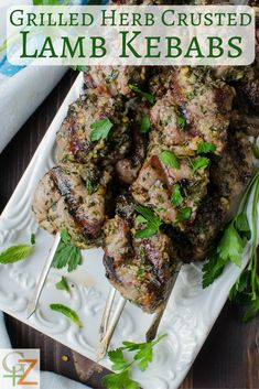 How to Make Grilled Herb-Crusted Lamb Kebabs Lamb Kebab Marinade, Lamb Kebabs, Healthy Grilling, Grilling Recipes, Kabob Recipes, Healthy Recipes, Healthy Food, Barbecue, Pork Rib Recipes