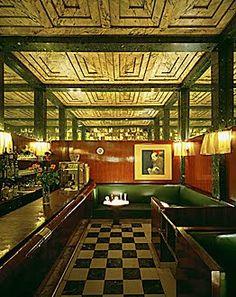 American Bar, Kärntner Strasse, Vienna. Adolf Loos 1908