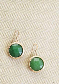 jade earrings.