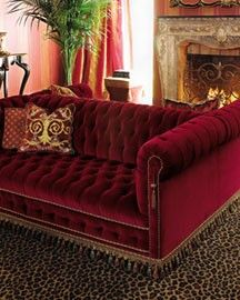 Since I Was 8 Years Old Dreamed Of A Red Velvet Couch