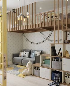 30 ideas and furnishing tips for the nursery - Kinderzimmer – Babyzimmer – Jugendzimmer gestalten - Baby Bedroom, Baby Boy Rooms, Baby Room Decor, Kids Bedroom, Bedroom Decor, Room Baby, Loft Bedroom Kids, Bedroom Modern, Bedroom Neutral