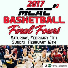 The @mcacathletics Basketball Final Fours are coming to Duckworth Centre this weekend! SATURDAY Women's Semifinals 12:00 | College Wesmen (4) vs CMU Blazers (1) 2:00 | Providence Pilots (3) vs RRC Rebels (2) Men's Semifinals 4:00 | Providence Pilots (3) vs CMU Blazers (2) 6:00 | College Wesmen (4) vs RRC Rebels (1) SUNDAY 1:00 | Women's Final Winners of Semifinals 3:00 | Men's Final Winners of Semifinals