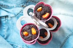 kizikuki: Babeczki brownie z cukrem daktylowym i mąką orkisz...