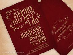 Couples Wedding Shower Invitation Before They Say I Do. $25.00, via Etsy.