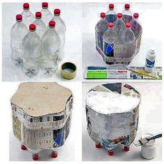. . . . . . . . . . . . El detalle que hace la diferencia: Ideas para hacer muebles y cosas utiles para la casa a partir de botellas de plastico PET, envases, llantas y palets.
