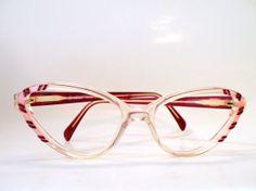 ¡Vendidas! - Gafas de pasta Valentino. Años 80 estilo años 50. por MeAndTheMajor, €60.00
