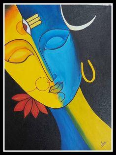 Original Portrait Painting by Supraja Ch Mandala Art Lesson, Canvas Painting Tutorials, Lord Shiva Painting, Indian Folk Art, Mini Canvas Art, Africa Art, Indian Art Paintings, Art Drawings For Kids, Art Art