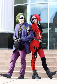20 cool halloween costume ideas for couples couples halloween costumes pinterest costume ideas cool halloween costumes and costumes - The Joker And Harley Quinn Halloween Costumes