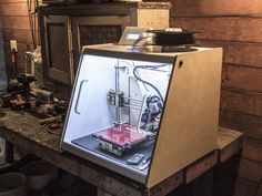 """Enclosure for 8"""" Makerfarm Prusa i3 by moczys - Thingiverse"""