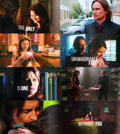 Belle and Mr. Gold (Beast) as portrayed on ABC's Once upon a time.  Belle's character matches the original story mostly, but Gold's have several changes such as being Rumpelstiltskin. However their love overcomes many obstacles and she sees the good in him when everyone else only sees a monster. She loves him unconditionally.