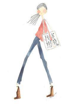 Tibi Sketch via Crush Party Children's Book Illustration, Graphic Design Illustration, Couple Drawings, Sketchbook Inspiration, Color Rosa, Branding, Watercolor Paintings, Watercolours, Female Art