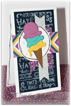 "Paper HeARTIST: June's Stamp of the Month...""Ice Cream Dream"""