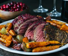 Cranberry Balsamic Crusted Chateaubriand