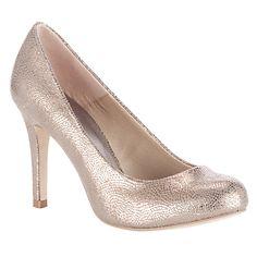 John Lewis Cosmopolitan Stiletto Court Shoes, Gold