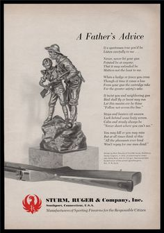 1965 RUGER AD A Father's Advice : Other Collectibles at GunBroker.com