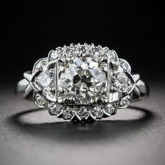 1.11 Carat Diamond Vintage Engagement Ring - 10-1-7268 - Lang Antiques