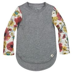 Baby Girl Stuff: Burt's Bees Baby® Toddler Girls' Floral Sleeve Tee...