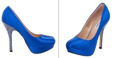 List of our favorite sapphire blue wedding heels!