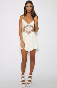 Freebird Playsuit - White | Back In Stock | Clothes | Peppermayo