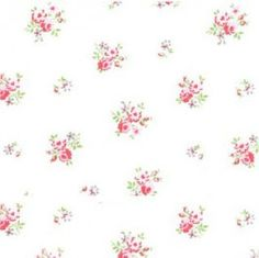 Organic cotton, white with tiny roses