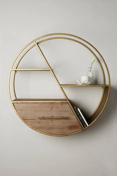 Anthropologie Vertex Circle Shelf