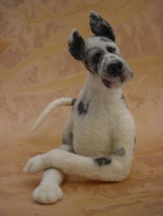 Needle Felted Great Dane