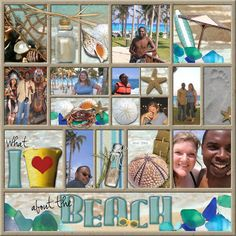 What I Love About The Beach, digital layout by Janell