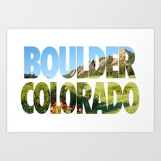 Boulder Colorado Art Print by Ben Klaus Design and Photography - $20.00