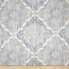 This fabric would be gorgeous with the gray cabinets and reclaimed/distressed furniture! @Janell Rau