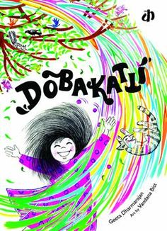 Hop on to a merry-go-round of fun and frolic; a playful joyride with the Wind as she swirls and twirls around. Fall into a whirlpool of words, movement and sound. Dobakatti! A fun folding book that reminds you of an accordion, it is also truly lyrical!