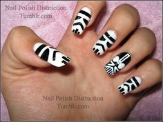 Forget red, these storm trooper nails are man bait.