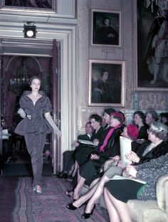 Christian Dior's Winter Collection at Blenheim Palace in aid of the British Red Cross, November 3, 1954