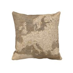 Vintage Map of Europe (1804) Throw Pillow from Zazzle.com $62.40