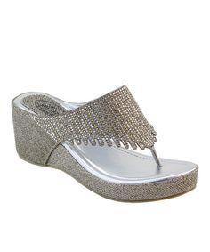 Look at this #zulilyfind! Champagne Rhinestone Shower Sandal by Summer Rio #zulilyfinds