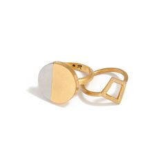 madewell moonspell ring + diamond shape ring. #everydaymadewell