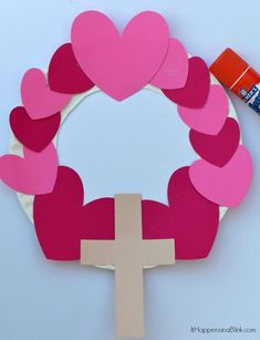 New Craft For Kids Sunday School Valentines Day Ideas Sunday School Crafts For Kids, Bible School Crafts, Sunday School Activities, Valentine's Day Crafts For Kids, Valentine Crafts For Kids, Preschool Crafts, Preschool Church Crafts, Kids Sunday School Lessons, Church Activities