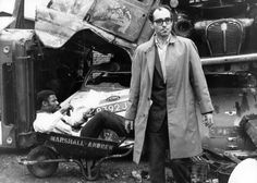 Filming the Black Panthers in a junkyard piled high with rusted cars for the sequences that are interspersed throughout One Plus One (aka Sympathy for the Devil), the 1968 film Godard filmed in London with The Rolling Stones