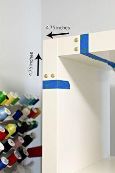 Ikea Hack Adding Campaign Hardware to the Kallax Shelf Using Rub