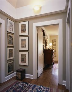 Great site showing Benjamin Moore paint colors in real room settings, like this one with Bennington gray